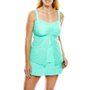 Aqua Couture Flyaway Bandeaukini Swim Top or Ruffled Skirtini - Plus