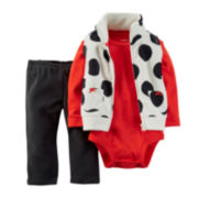 Carter's® Vest, Bodysuit and Pants - Baby Girls newborn-24m