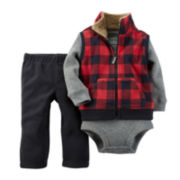 Carter's® Vest, Bodysuit and Pants - Baby Boys newborn-24m