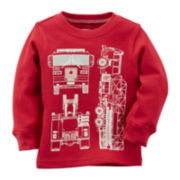 Carter's® Fire Truck Thermal Tee - Baby Boys 3m-24m
