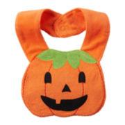 Carter's® Jack-O'-Lantern Bib - Neutral Baby newborn-24m