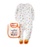 Carter's® Halloween Sleep & Play Bib - Neutral Baby newborn-24m