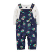 Carter's® Floral Overalls and Bodysuit - Baby Girls newborn-24m