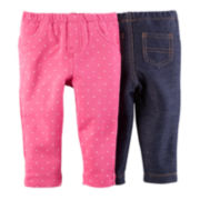 Carter's® 2-pk. Jeggings - Baby Girls newborn-24m