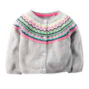Carter's® Fair Isle Cardigan - Baby Girls newborn-24m