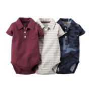 Carter's® 3-pk. Polo Bodysuits - Baby Boys newborn-24m