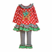Bonnie Jean® Reindeer Top and Leggings - Toddler Girls 2t-4t