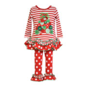 Bonnie Jean® Christmas Tree Top & Leggings - Toddler Girls 2t-4t
