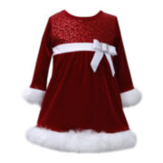Bonnie Jean® Velvet Santa Dress - Toddler Girls 2t-4t