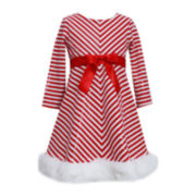 Bonnie Jean® Candy Cane Dress - Toddler Girls 2t-4t