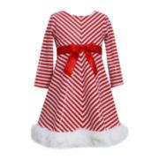 Bonnie Jean® Candy Cane Dress - Toddler Girls 2t-4t