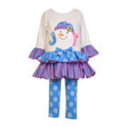 Bonnie Jean® Snowman Top and Leggings - Toddler Girls 2t-4t