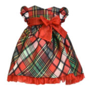 Bonnie Jean® Plaid Bow Dress - Toddler Girls 2t-4t