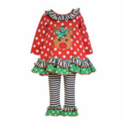 Bonnie Jean® Reindeer Top and Leggings Set - Preschool Girls 4-6x