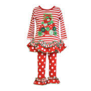 Bonnie Jean® Christmas Tree Top & Leggings Set - Preschool Girls 4-6x