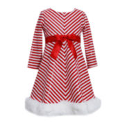 Bonnie Jean® Candy Cane Dress - Preschool Girls 4-6x