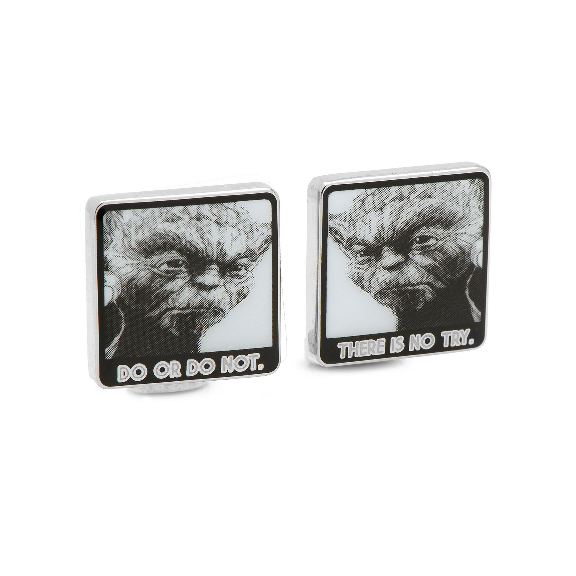 Star Wars™ Yoda Do Or Do Not There Is No Try Cuff Links