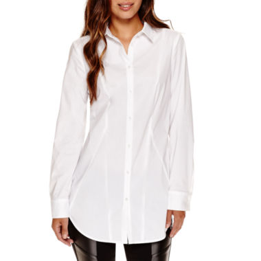 jcpenney.com | Worthington® Long-Sleeve Boyfriend Button-Front Oxford Shirt