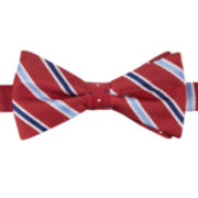 Stafford® Laclede Dot-Stripe Reversible Pre-Tied Bow Tie