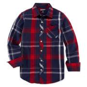 Arizona Woven Button-Front Shirt – Boys 8-20 and Husky