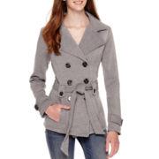 Jou Jou Long-Sleeve Fleece Trench Coat
