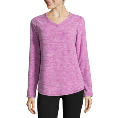 jcpenney.com | Made for Life™ Long-Sleeve V-Neck Fleece Pullover - Tall