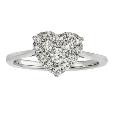 jcpenney.com | Womens 1/2 CT. T.W. Heart-Shaped Diamond 10K Gold Engagement Ring