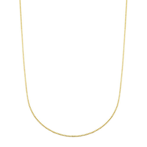 LIMITED QUANTITIES! 14K Yellow Gold Polished Box 0.54mm Chain Necklace