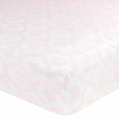 jcpenney.com | Just Born Pink Fitted Cotton Crib Sheet