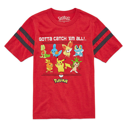 Short Sleeve Pokemon T-Shirt-Big Kid Boys