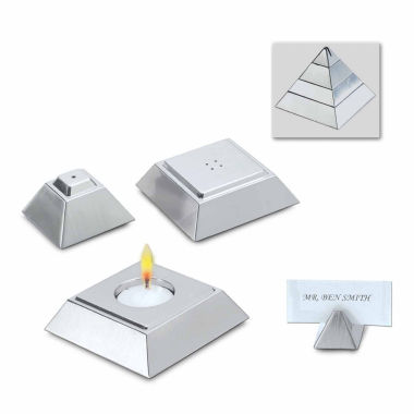 jcpenney.com | Natico 4 in 1 Silver Pyramid Votive Candle Holder, Salt & Pepper Shakers and Place Setting