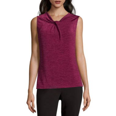jcpenney.com | Liz Claiborne® Sleeveless Highneck Twist Top