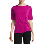 Worthington® Short-Sleeve Twist Top