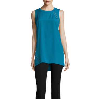 jcpenney.com | Worthington® Sleeveless Lace-Up Tunic