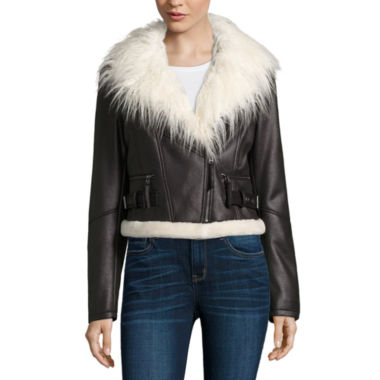 jcpenney.com | a.n.a® Faux-Fur Collar Jacket