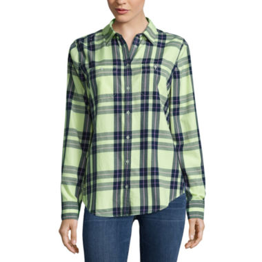 jcpenney.com | Stylus Modern Fit Long Sleeve Button-Front Shirt