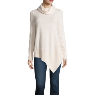 jcpenney.com | Stylus™ Long-Sleeve Asymmetrical Hem Sweater