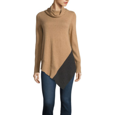 jcpenney.com | Stylus™ Long-Sleeve Asymmetrical-Hem Tunic - Tall