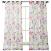 Serena Sheer Grommet-Top 2-Pack Curtain Panels