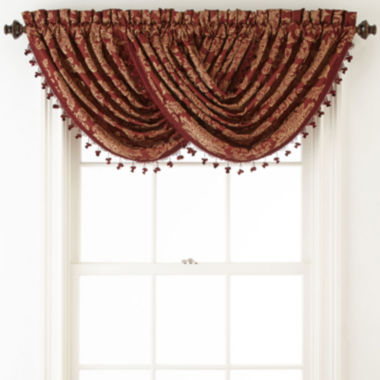 jcpenney.com | Home Expressions™ Sevilla Rod-Pocket Waterfall Valance