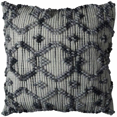Rizzy Home Intertwined Diamond Square Throw Pillow