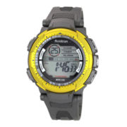Armitron® Pro Sport Mens Gray & Yellow Digital Chronograph Sport Watch