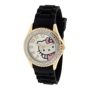 jcpenney.com | Hello Kitty® Crystal-Accent Watch
