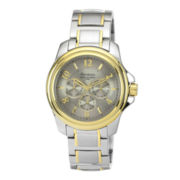 Armitron® Mens Silver-Tone Dial Two-Tone Stainless Steel Watch