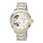 Armitron® Mens Two-Tone Skeleton Dial Hybrid Bracelet Watch