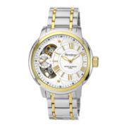 Armitron® Mens Two-Tone Skeleton Dial Hybrid Bracelet Watch