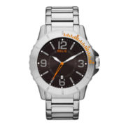 Relic® Gresham Mens Silver-Tone Brown Dial Watch