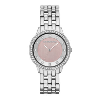 jcpenney.com | Liz Claiborne® Womens Pink Crystal-Accent Bracelet Watch