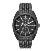 Claiborne Mens Black Multifunction Watch