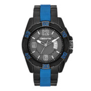 Claiborne Mens Blue & Gunmetal Sport Watch